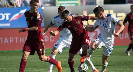 Самедов и Дюрица сыграли в матче Россия – Словакия