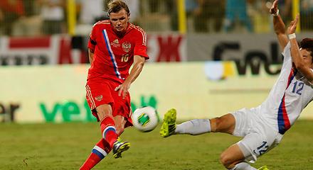 Тарасов забил первый гол за сборную!