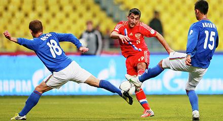 Игроки «Локомотива» поучаствовали в победе России над Азербайджаном