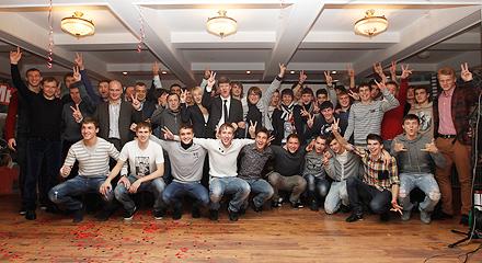 Праздничный ужин в честь чемпионства молодежного «Локомотива»