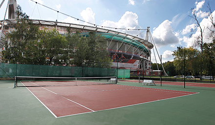 New tennis courts at the Lokomotiv Stadium