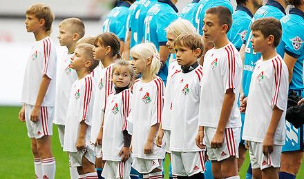 Юные болельщики «Локо» стали участниками матча с  «Зенитом»