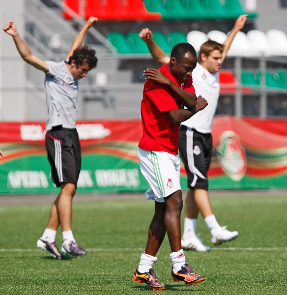 Тренировка «молодежки» перед матчем с «Аланией»