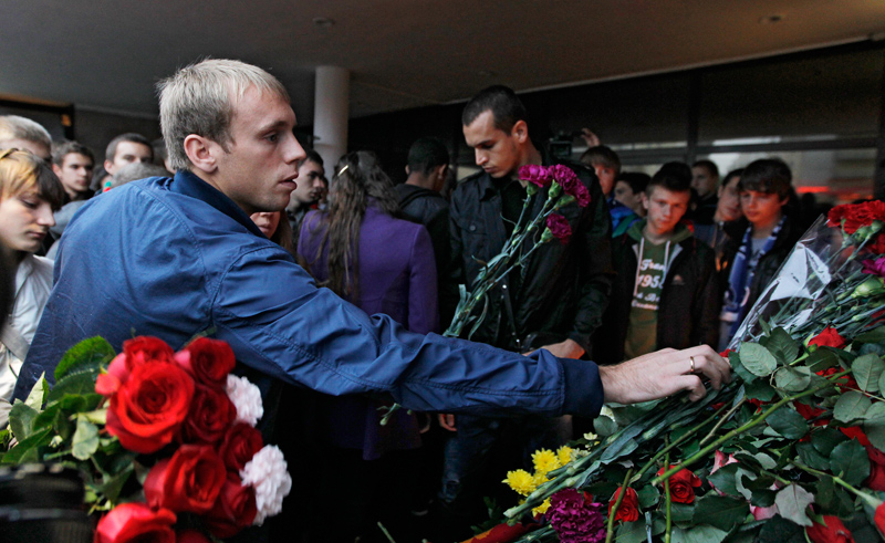 Lokomotiv honoured the memory of the deads in the plane crash