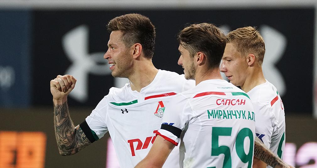 Первый гол Смолова, первая домашняя победа. «Локомотив» обыграл «Анжи»
