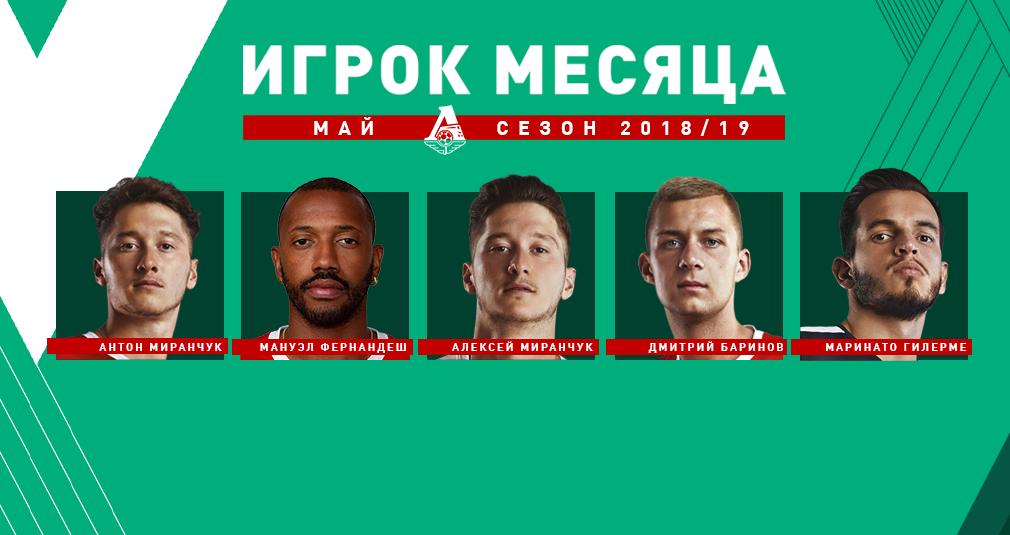 Выбери лучшего футболиста мая!