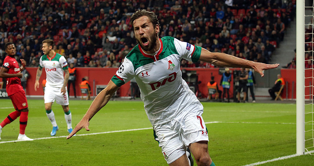 Another Goal By Krychowiak And Long Ball By Barinov. Lokomotiv Beat Bayer In Champions League
