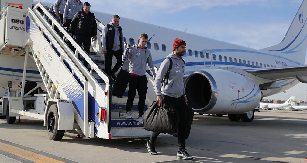 «Локомотив» прилетел в Мадрид и провел тренировку на базе «Реала»