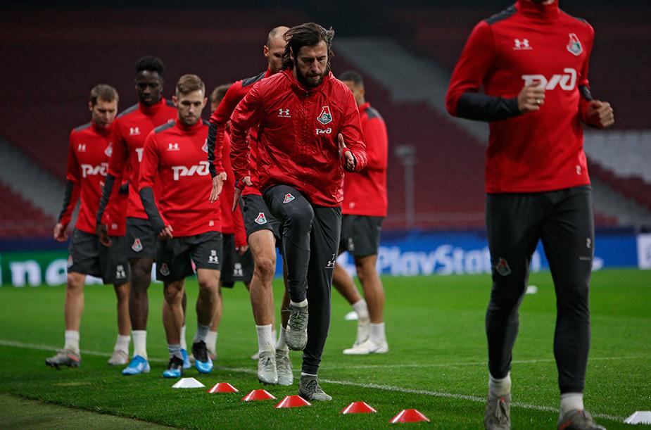 Тренировка перед матчем с «Атлетико»