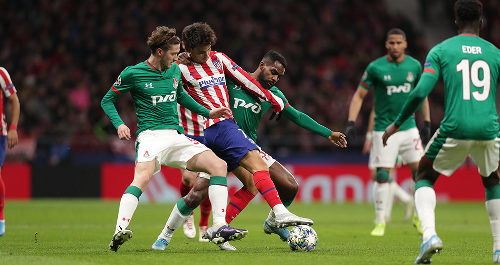Atletico - Lokomotiv - 2:0. Highlights