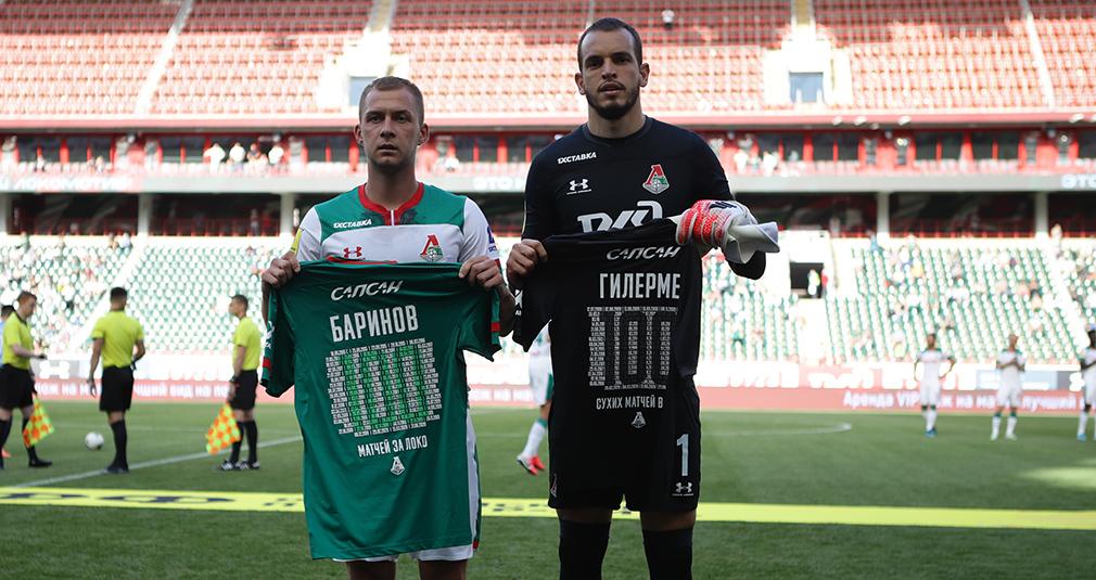 Баринов провел сотый матч за «Локомотив»