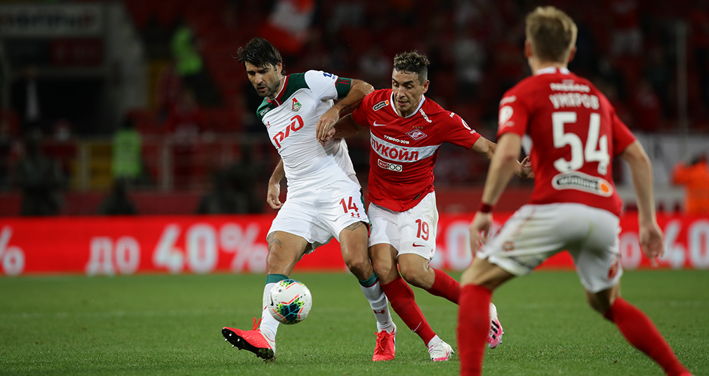 Lokomotiv and Spartak played to a 1-1 draw