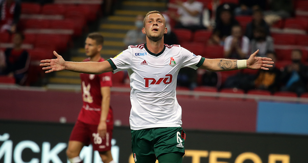Goals from Miranchuk and Barinov, two assists from Rybchinskiy. Lokomotiv beats Rubin
