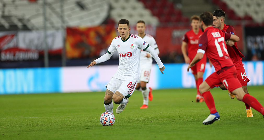 Lokomotiv earned a draw against Salzburg in the Champions League