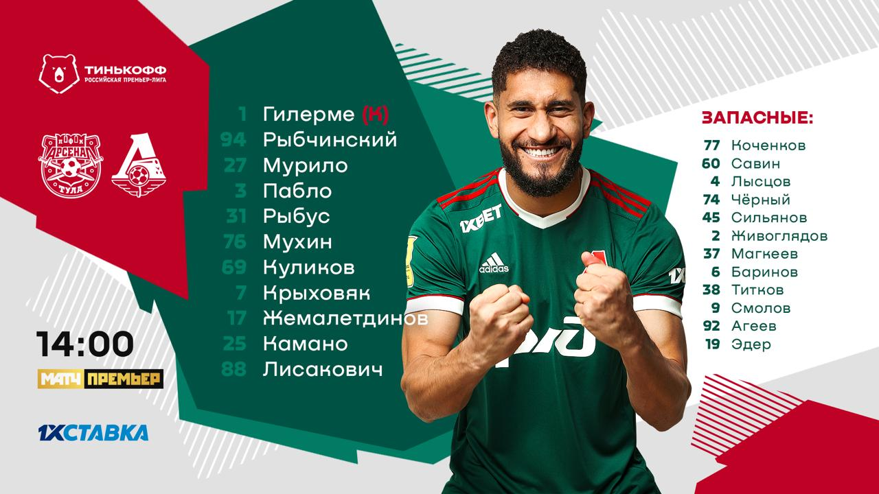 Here's Lokomotiv 11 for today's game against Arsenal