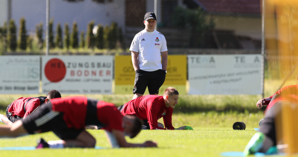 Lokomotiv held its first training session at the training camp