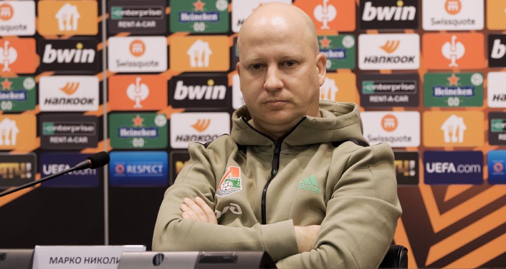 Пресс-конференция Марко Николича перед матчем с «Олимпиком»